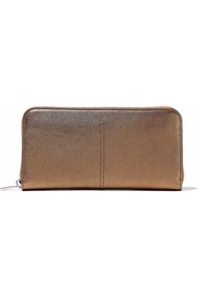 TOD'S Metallic leather wallet