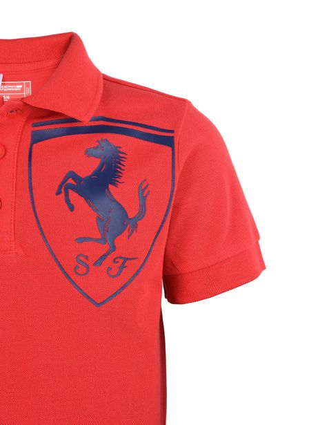 Scuderia Ferrari Online Store - Short-sleeve polo shirt for teens with Shield -