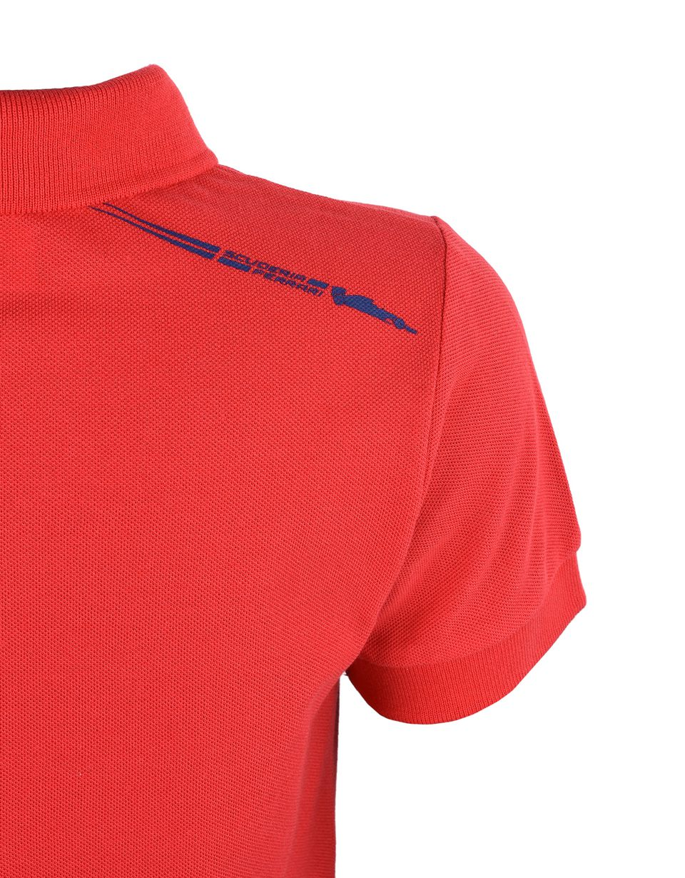 Scuderia Ferrari Online Store - Short-sleeve polo shirt for teens with Shield - Short Sleeve Polos