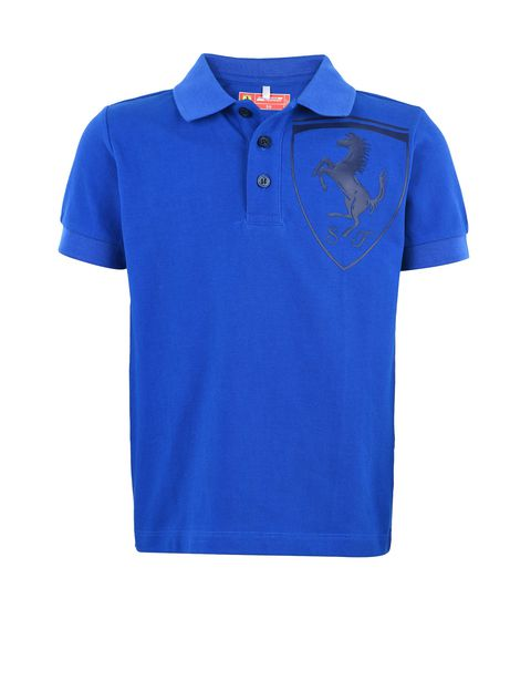 Short-sleeve polo shirt for teens with Shield