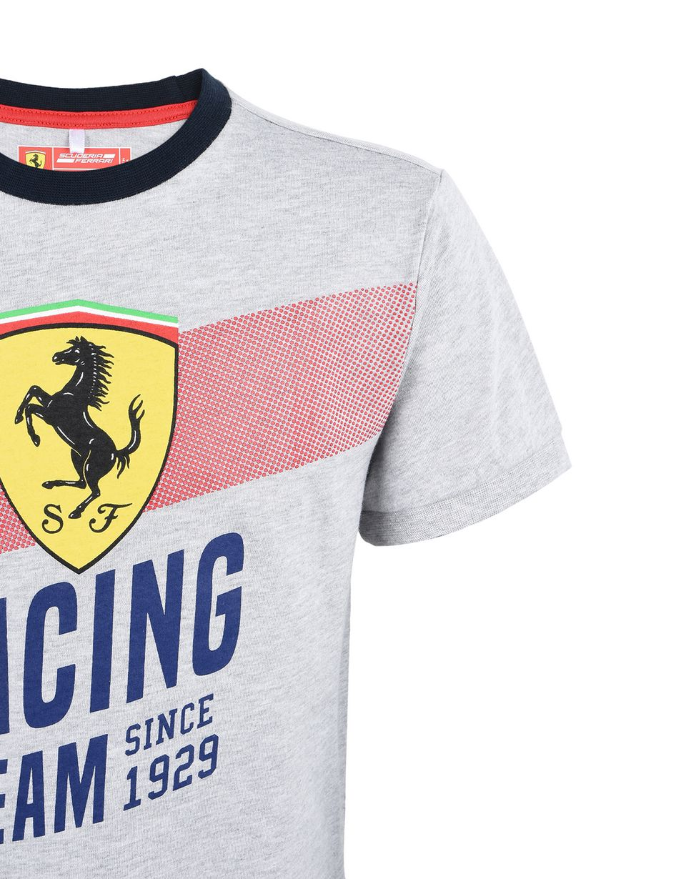 "Scuderia Ferrari Online Store - Cotton T-shirt for teens with ""Racing Team"" print - Short Sleeve T-Shirts"
