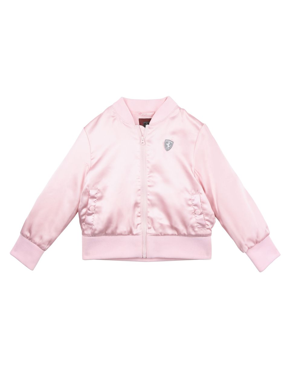 Scuderia Ferrari Online Store - Bomber jacket for girls with Shield on the chest - Bombers & Track Jackets