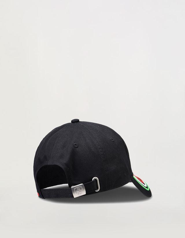 Scuderia Ferrari Online Store - 可调节三色男士鸭舌帽 - 棒球帽