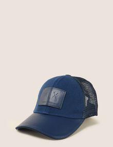 ARMANI EXCHANGE FAUX-LEATHER LOGO PATCH HAT Hat Man f