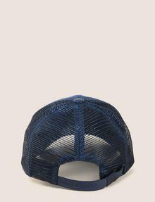 ARMANI EXCHANGE FAUX-LEATHER LOGO PATCH HAT Hat Man r