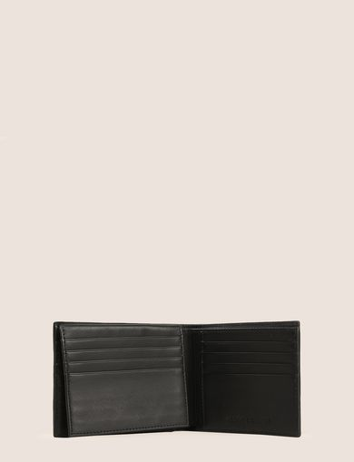 EMBOSSED LOGO TRIFOLD WALLET