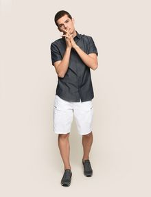 ARMANI EXCHANGE SIDE-ZIP CARGO SHORTS Shorts Man d
