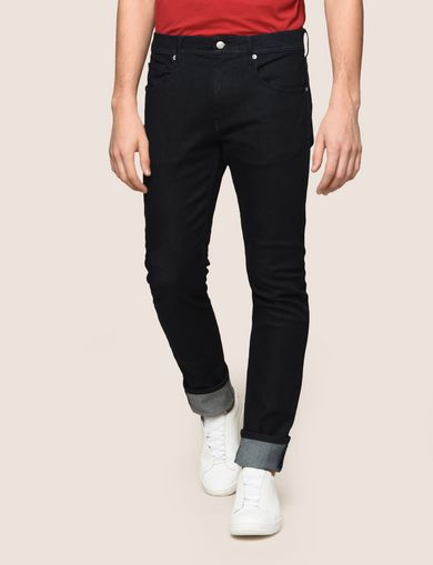 SLIM-FIT DARK INDIGO WASH JEANS