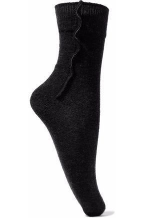 BRUNELLO CUCINELLI Bead-embellished cashmere-blend socks