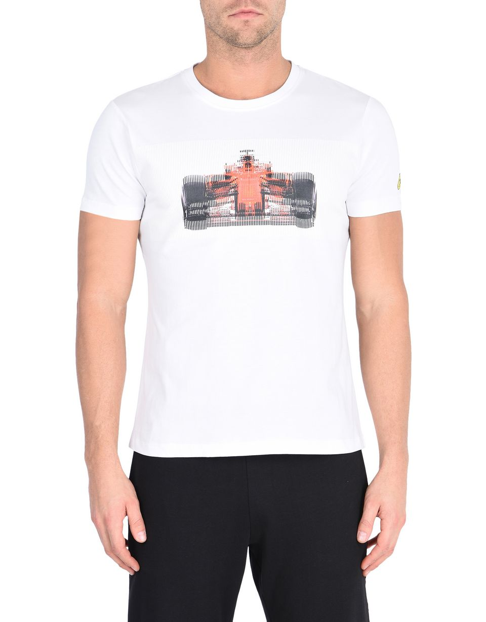 Scuderia Ferrari Online Store - Men's T-shirt with race car print -