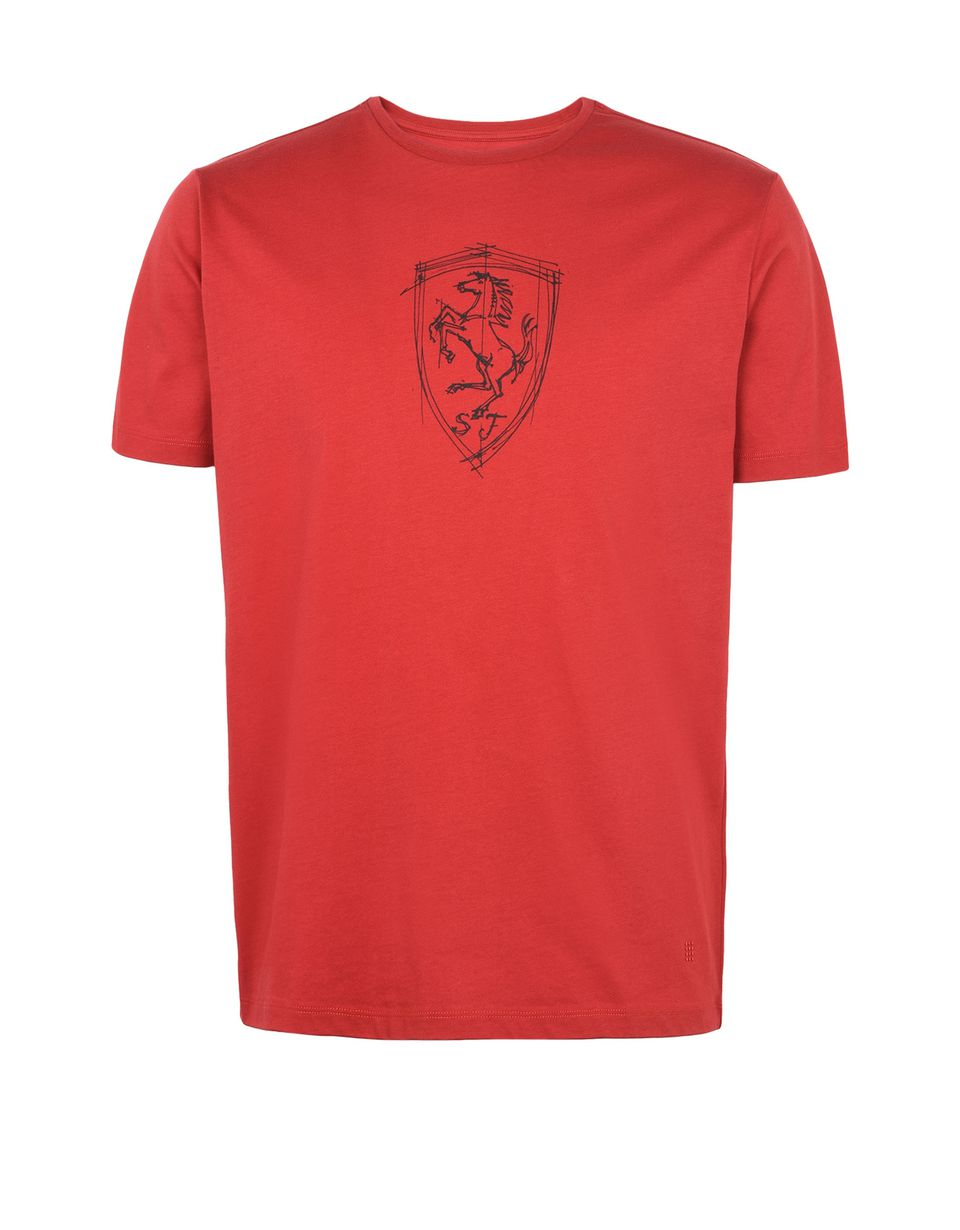 Scuderia Ferrari Online Store - Men's T-shirt with Shield silkscreen print -