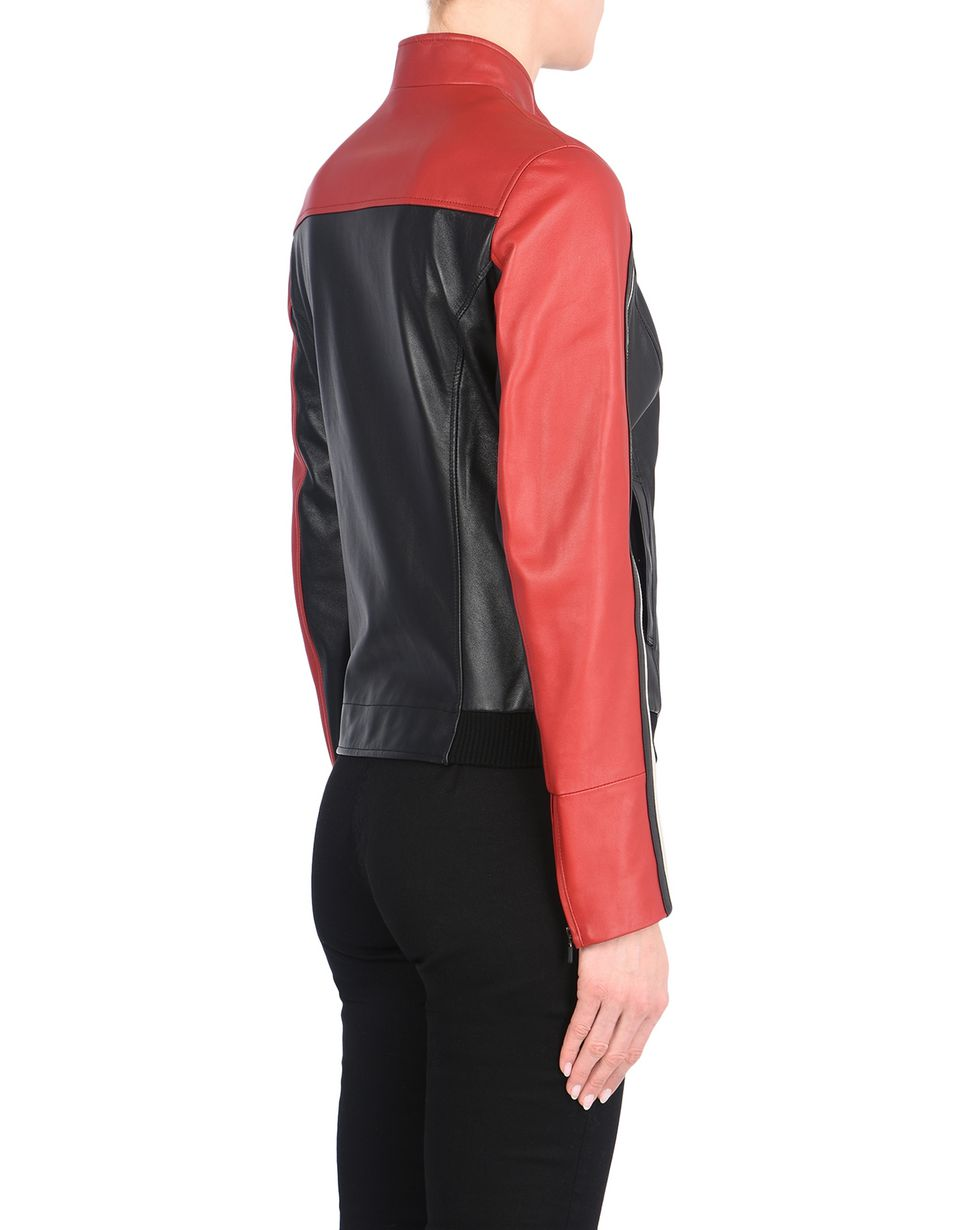 Scuderia Ferrari Online Store - Women's leather biker jacket -