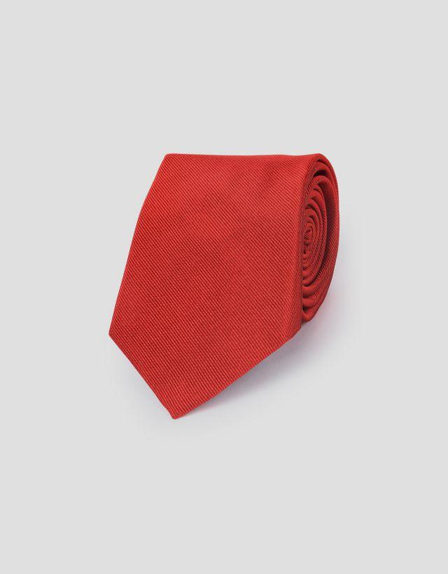 Scuderia Ferrari Online Store - Corbata Scuderia Ferrari de seda pura - Corbatas de punto