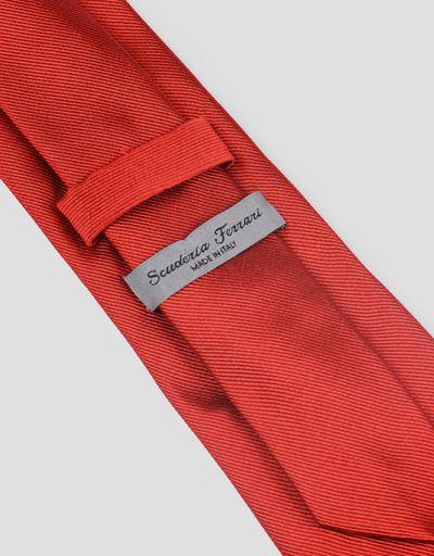 Scuderia Ferrari Online Store - Scuderia Ferrari tie in pure silk - Woven Ties