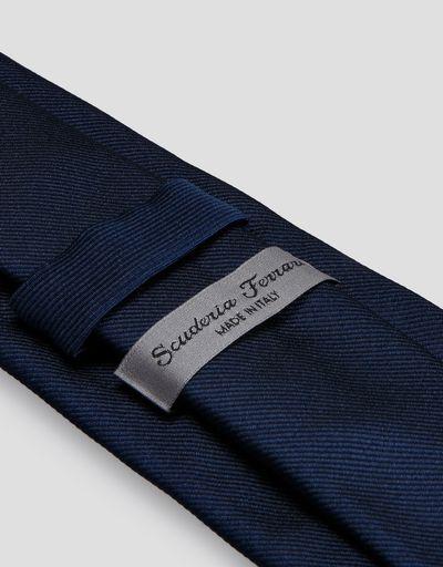 Scuderia Ferrari Online Store - Cravate Scuderia Ferrari en soie pure - Cravates tissées