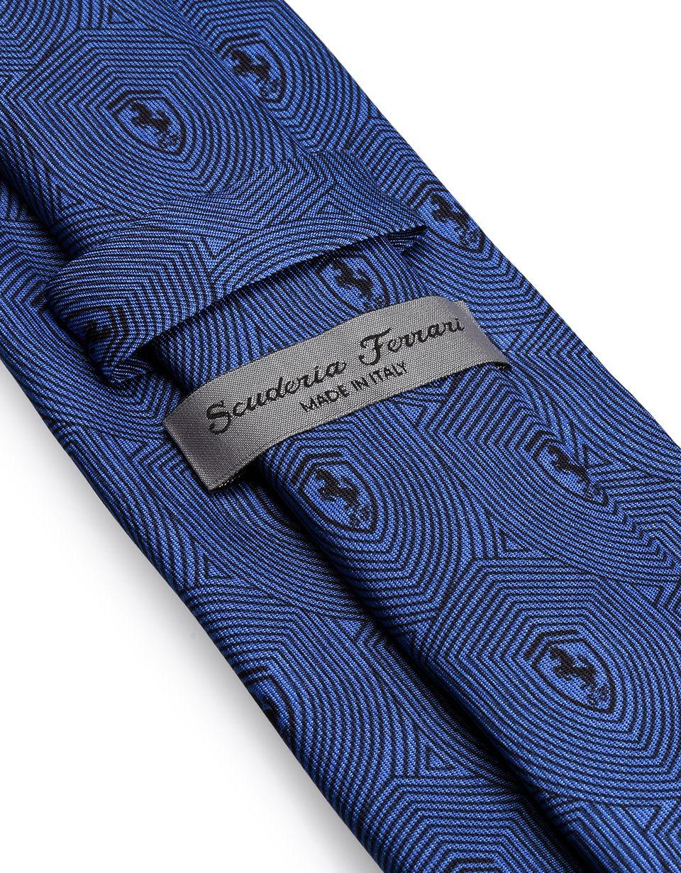 Scuderia Ferrari Online Store - Scuderia Ferrari Pure silk tie - Printed Ties