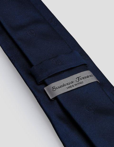 Scuderia Ferrari Online Store - Jacquard tie with Ferrari Shield - Printed Ties