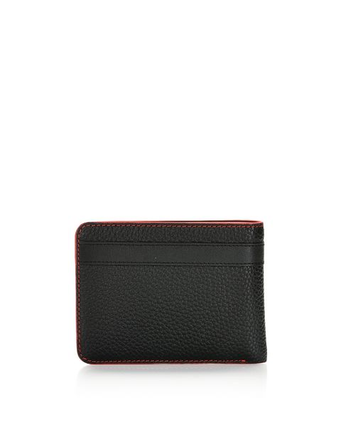 Men's wallet in hammered leather
