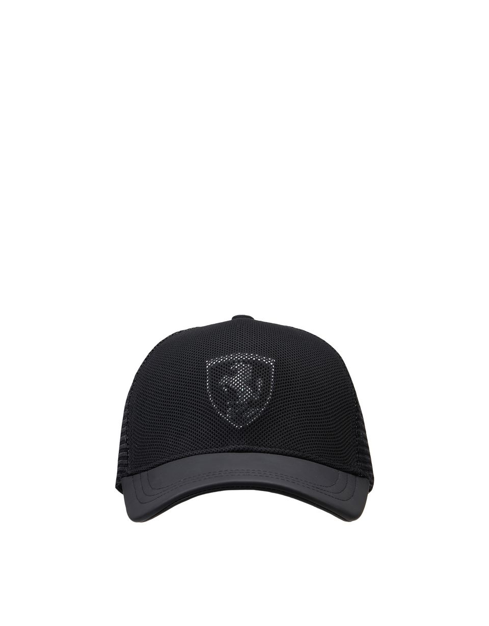 Scuderia Ferrari Online Store - Women's Scuderia Ferrari cap in technical fabric with Shield - Baseball Caps