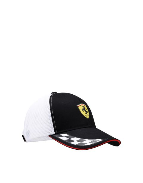 Scuderia Ferrari cap with visor in cotton and technical fabric.