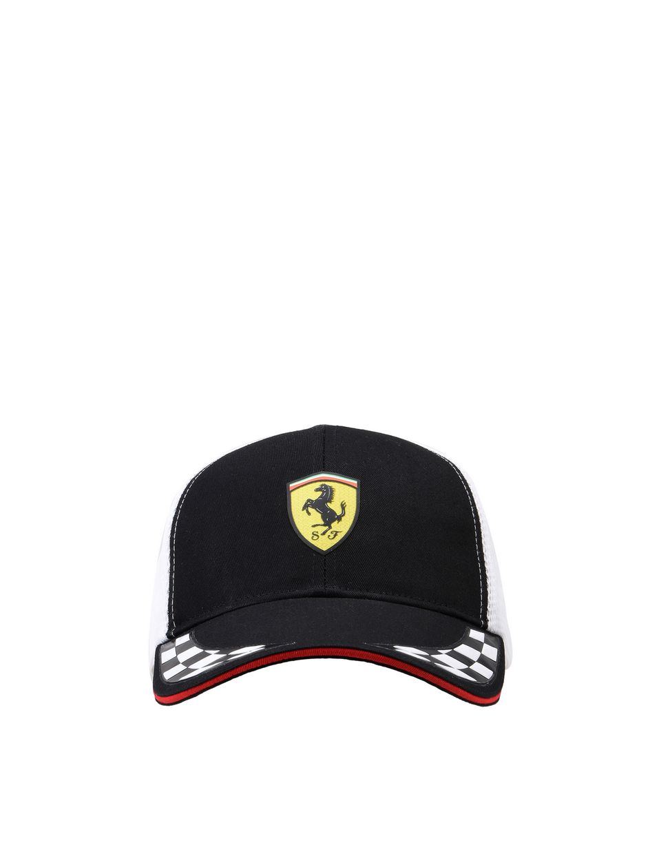 Scuderia Ferrari Online Store - Scuderia Ferrari cab with visor in cotton and technical fabric -