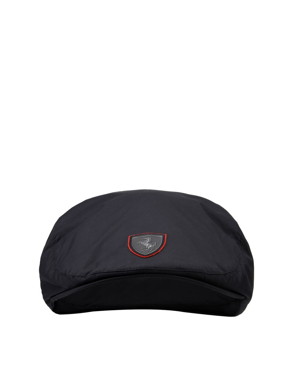 Scuderia Ferrari Online Store - Men's flat cap with Ferrari Shield -