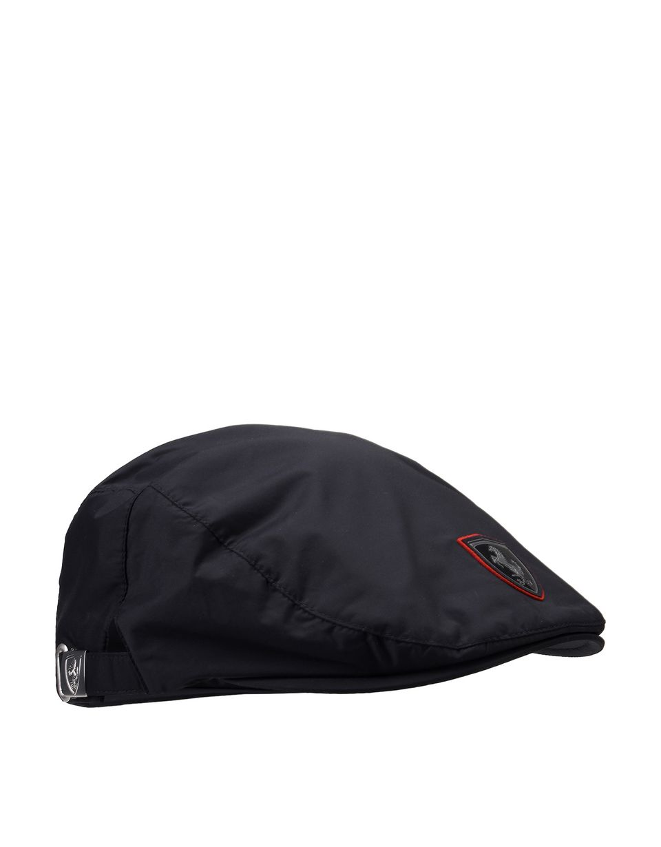 Scuderia Ferrari Online Store - Men's flat cap with Ferrari Shield - Baseball Caps