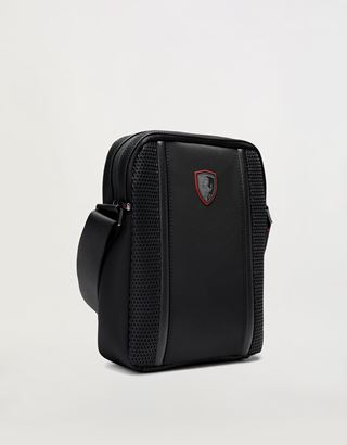 Scuderia Ferrari Online Store - Hypergrid shoulder bag in special technical fabric - Messenger Bags