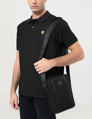 Scuderia Ferrari Online Store - Hypergrid crossbody bag in special technical fabric - Messenger Bags