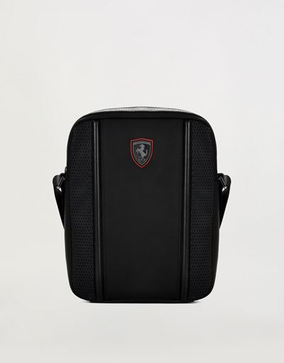 Hypergrid shoulder bag in special technical fabric