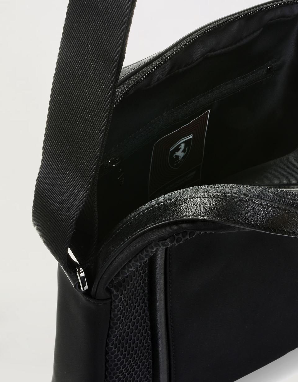 Scuderia Ferrari Online Store - Hypergrid crossbody bag in special technical material - Messenger Bags