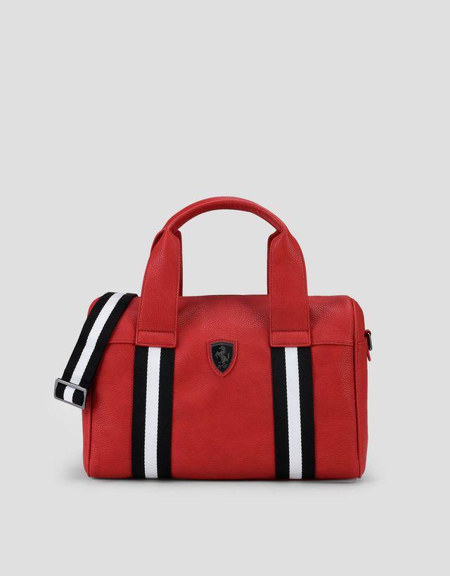 Scuderia Ferrari Online Store - Woman s crossbody bag in hammered faux  leather - Boston ... 38a9b01294fc0