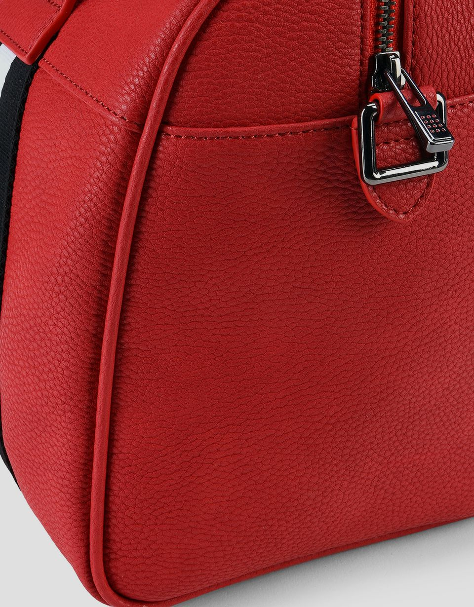 Scuderia Ferrari Online Store - Woman's crossbody bag in hammered faux leather - Boston Bags