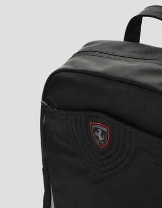 Scuderia Ferrari Online Store - Laptop backpack in embroidered technical fabric -