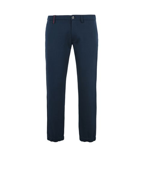 Scuderia Ferrari Online Store - Breathable cotton jersey pants with Scuderia Ferrari label - Chinos
