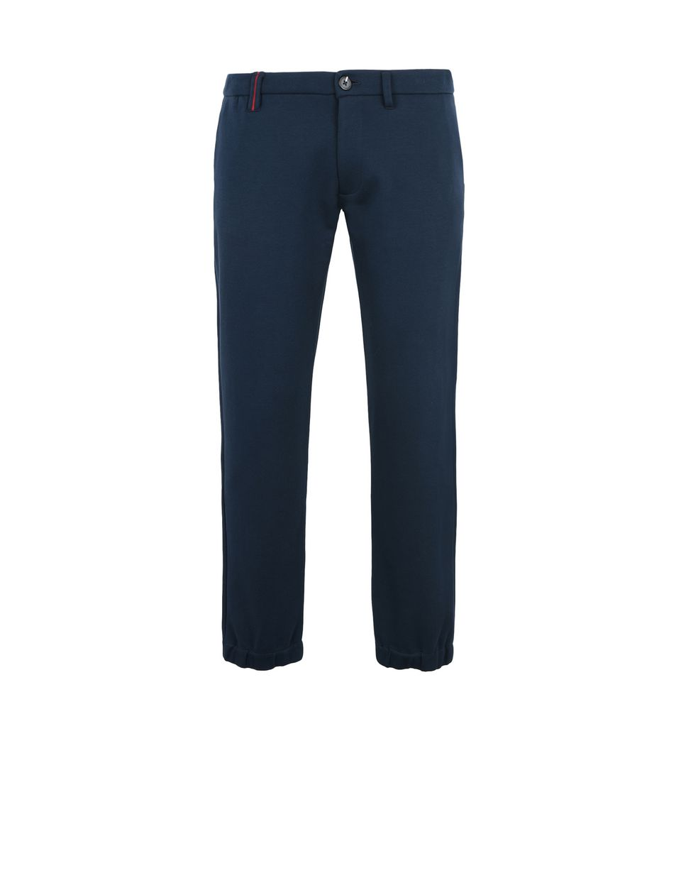 Scuderia Ferrari Online Store - Breathable cotton jersey trousers with Scuderia Ferrari label -