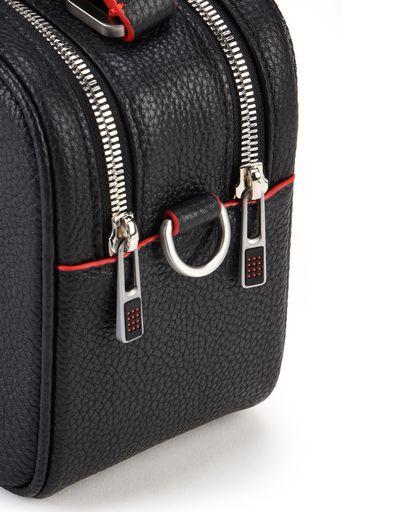 Scuderia Ferrari Online Store - Women's bag in hammered calfskin leather - Shoulder Bags