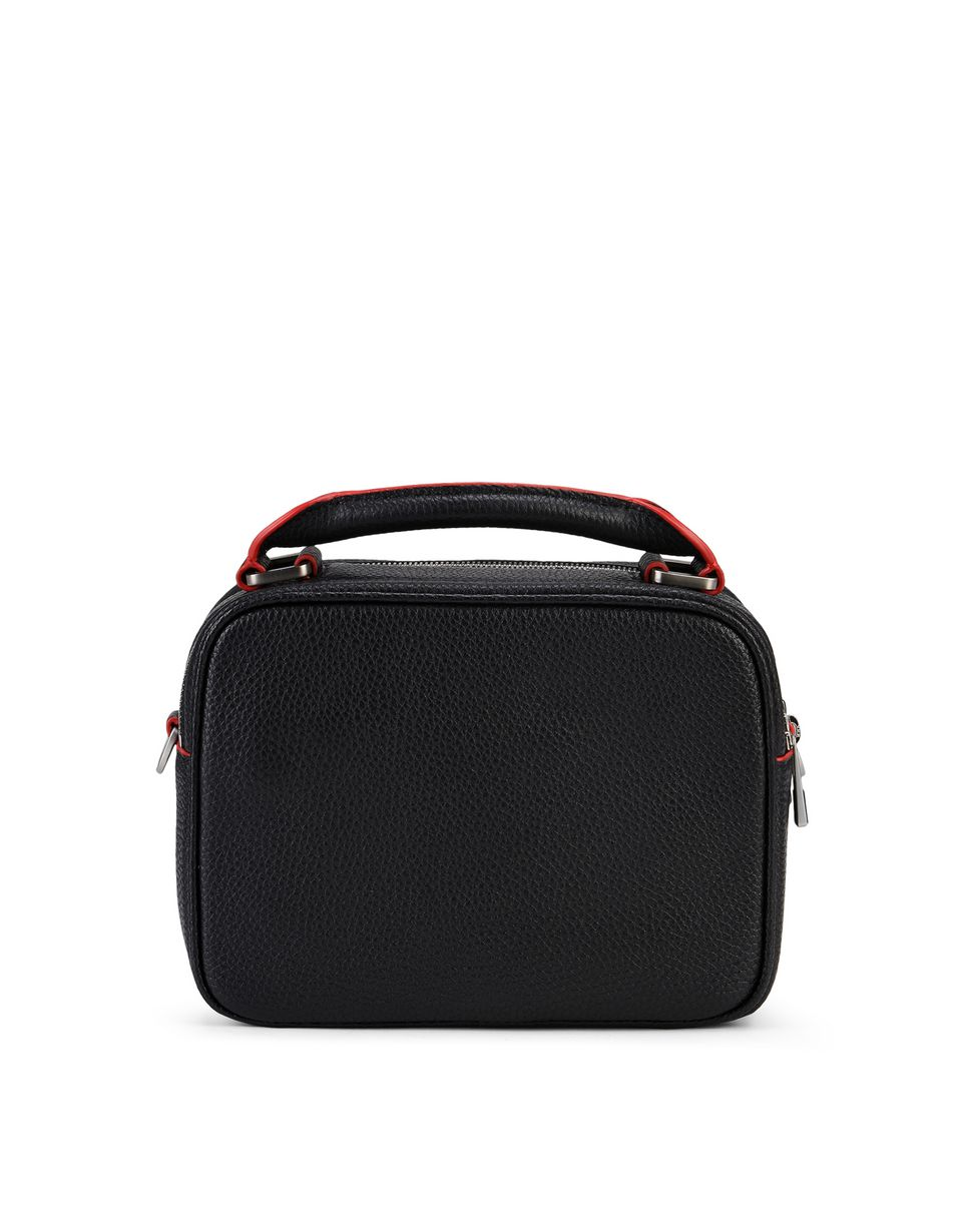 Scuderia Ferrari Online Store - Women's bag in hammered calfskin leather - Shoulder Bags
