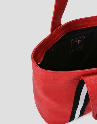 Scuderia Ferrari Online Store - 法拉利车队红色女士人造革包 - 托特包