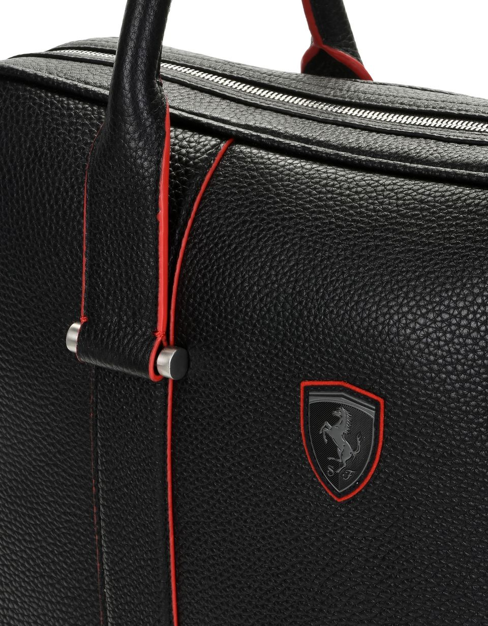 Scuderia Ferrari Online Store - Women's laptop bag in hammered calfskin leather -