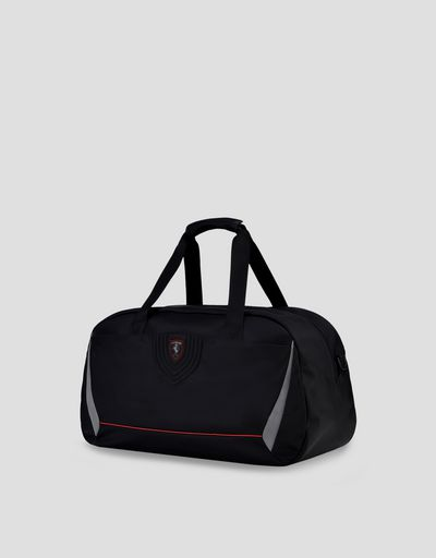 Travel bag in smooth embroidered technical fabric