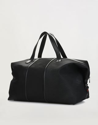 Scuderia Ferrari Online Store - Hypergrid shoulder bag in perforated technical fabric and leather - Duffle Bags