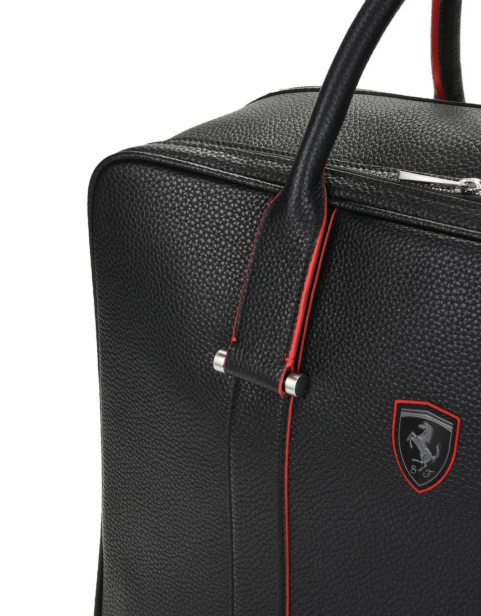 Scuderia Ferrari Online Store - Travel bag in hammered calfskin leather -