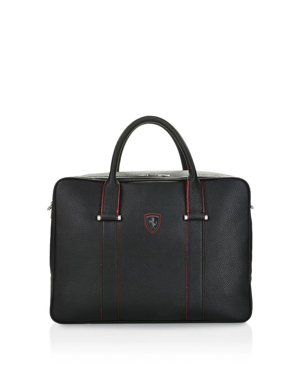 Scuderia Ferrari Online Store - Дорожная сумка из тиснёной телячьей кожи - Сумки с короткими ручками