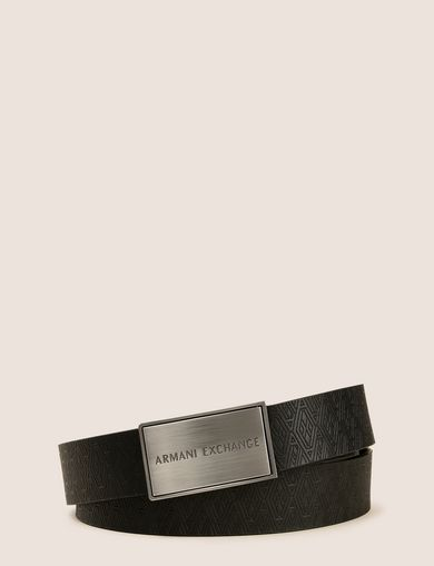 EMBOSSED TESSELLATION LOGO BELT