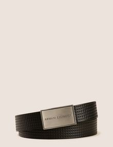 ARMANI EXCHANGE EMBOSSED TESSELLATION LOGO BELT Belt Man f