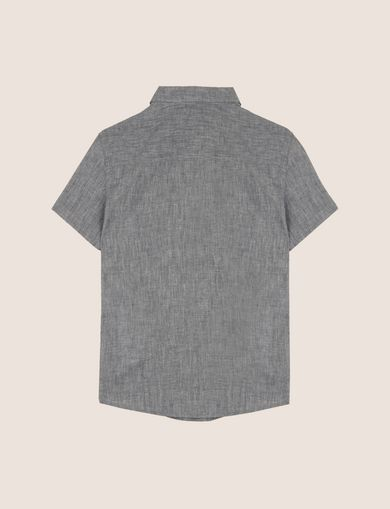 BOYS LINEN-BLEND CHAMBRAY SHIRT