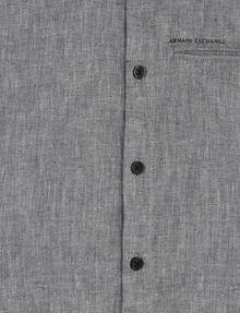 ARMANI EXCHANGE BOYS LINEN-BLEND CHAMBRAY SHIRT Short sleeve shirt [*** pickupInStoreShippingNotGuaranteed_info ***] d