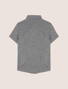 ARMANI EXCHANGE BOYS LINEN-BLEND CHAMBRAY SHIRT Short sleeve shirt [*** pickupInStoreShippingNotGuaranteed_info ***] r