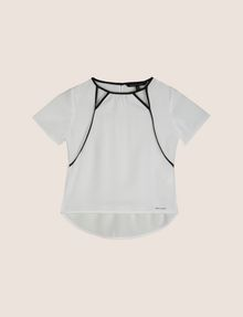ARMANI EXCHANGE GIRLS SEAM DETAIL CUTOUT BLOUSE S/S Woven Top Woman f